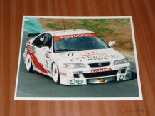 HONDA ACCORD BTCC David Leslie at speed(original period photo)